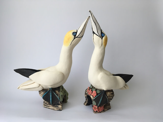 Lesley Anne Greene, Large pair of courting Gannets