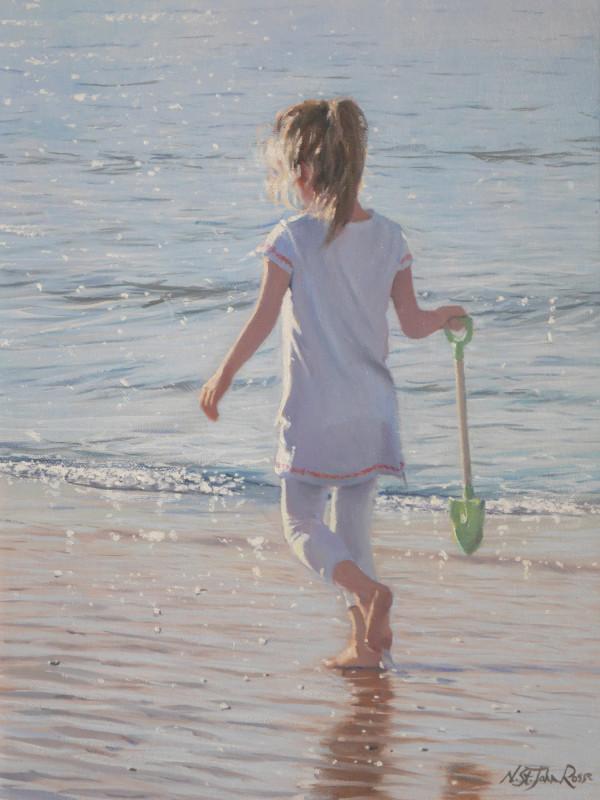 Nicholas St John Rosse RSMA, On a warm seashore