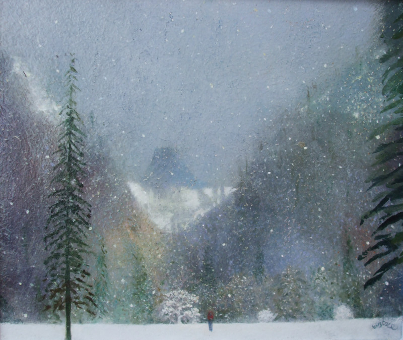 David Eustace RBA, Deep in winter Yosemite
