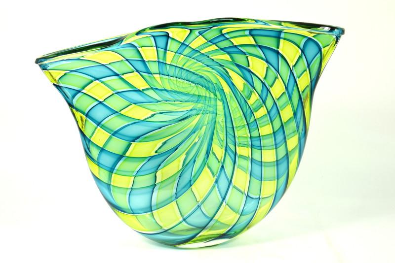 Bob Crooks, Pi Bowl - aqua & green