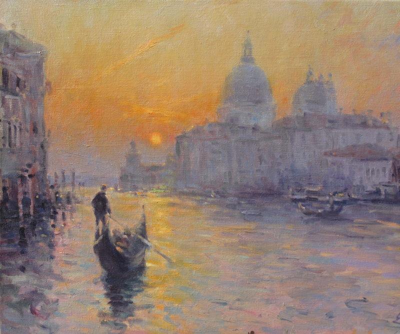 Edward Noott RBSA, Sunrise, Venice