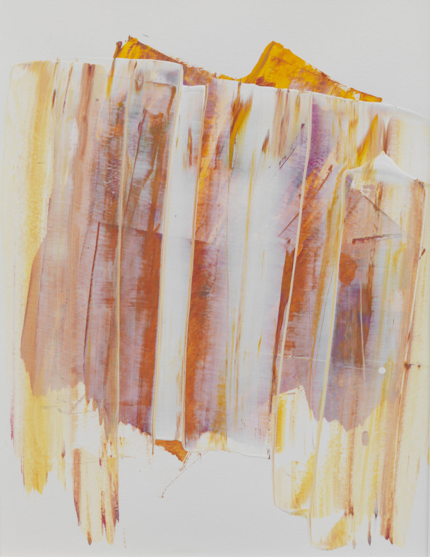 Lisa Sharpe Paintings, Veils of Amber Rock Sketch