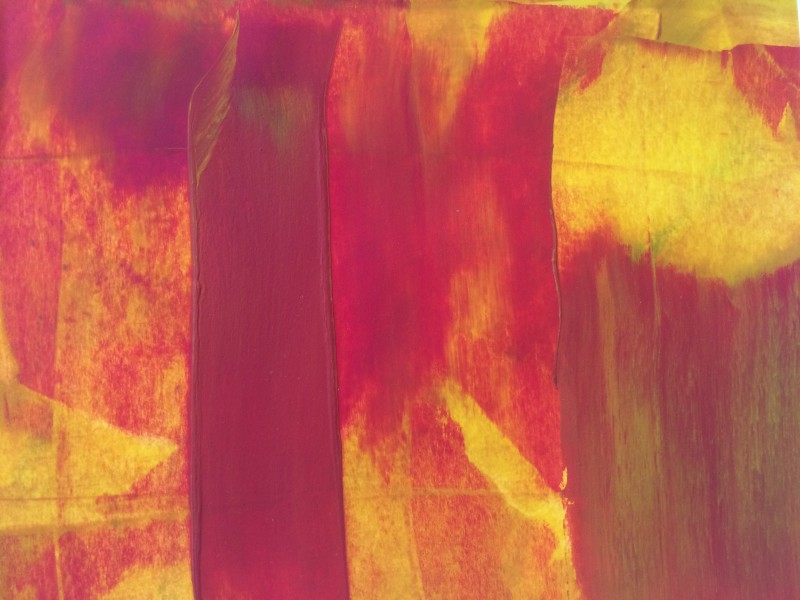 Lisa Sharpe Paintings, Red, Yellow, Ochre I