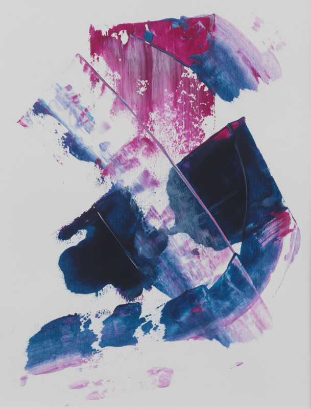 Lisa Sharpe Paintings, Indigo and Magenta, Sketch