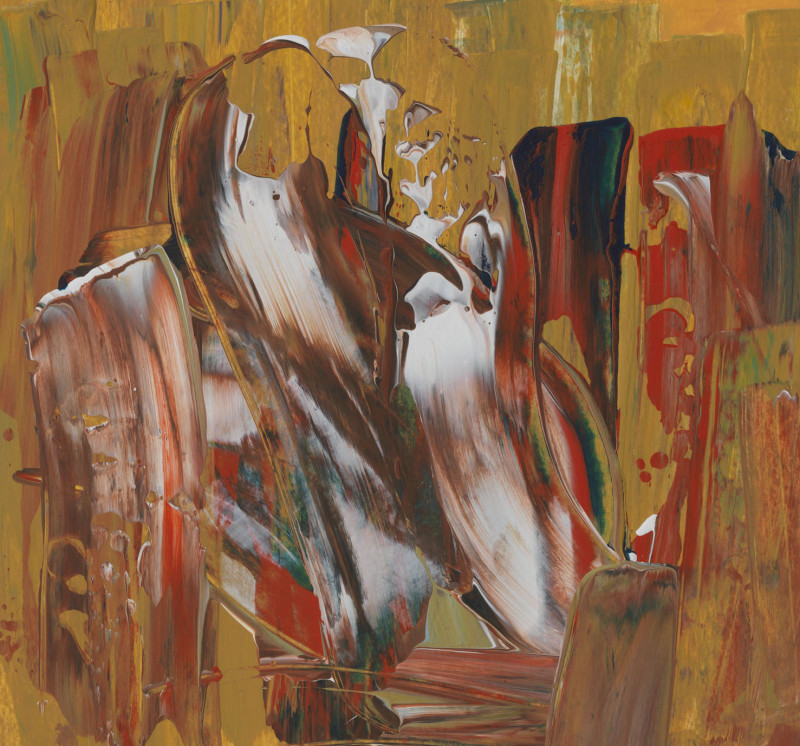 Lisa Sharpe Paintings, Earth in Flow (ochre, white, red, green velvet)