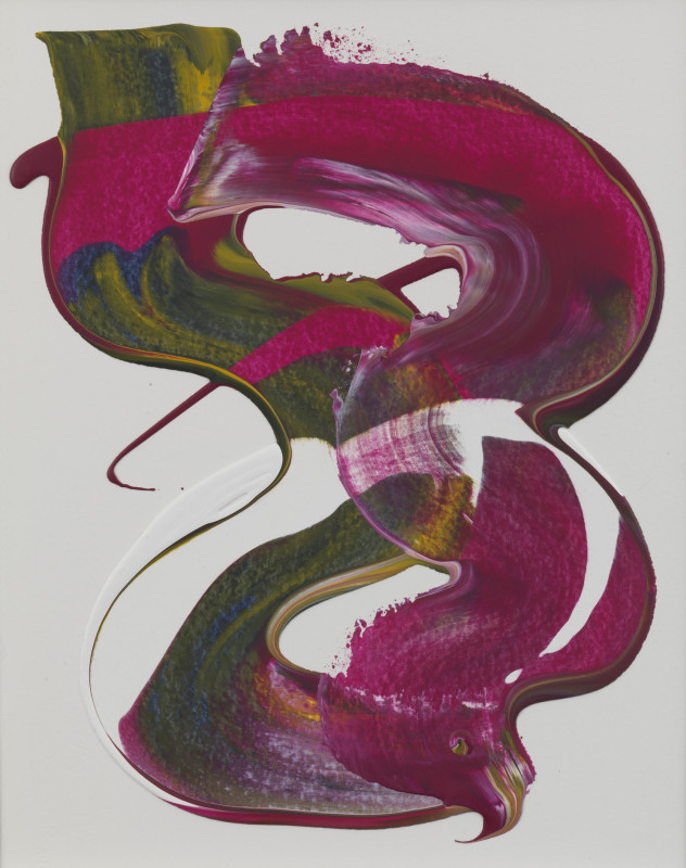 Lisa Sharpe Paintings, Deep Magenta, Indigo, Ochre & White