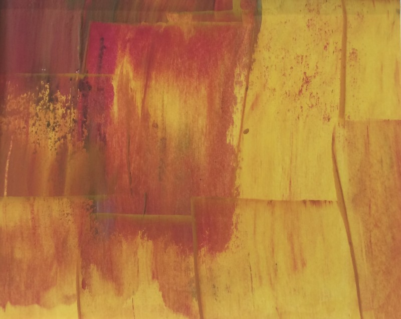 Lisa Sharpe Paintings, Red, Yellow, Ochre II