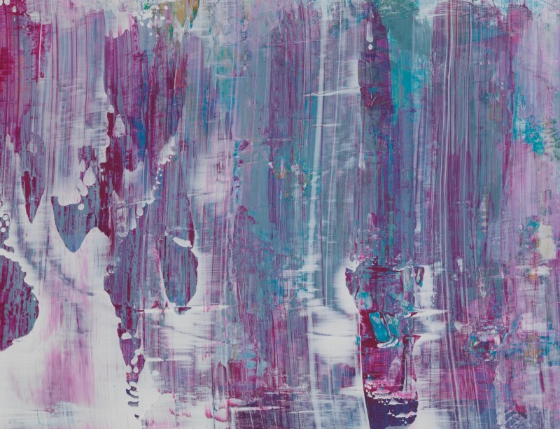 Lisa Sharpe Paintings, Melting ice on blue/pink skies