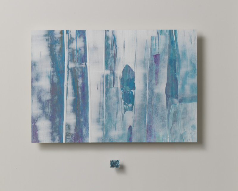 Lisa Sharpe & Doris Hangartner, Essence of Aquamarine (octagonal) , Blue, White, Pink
