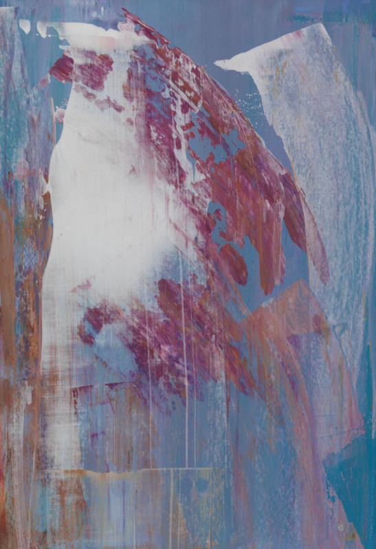 Lisa Sharpe Paintings, Soft Blues, White & Magenta
