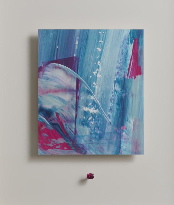 Lisa Sharpe & Doris Hangartner, Essence of Rubellite I - Pink, blue, white