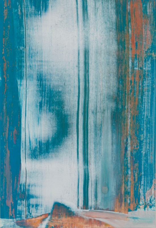 Lisa Sharpe Paintings, Forest White Light, Blue, Ochre