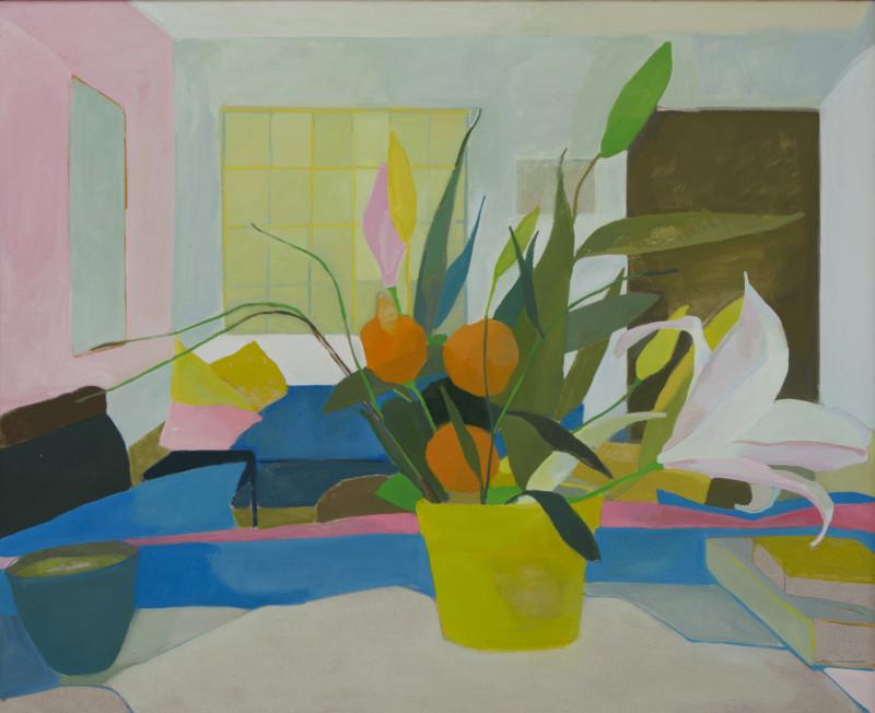 Karen Smidth, Salon with Flowers