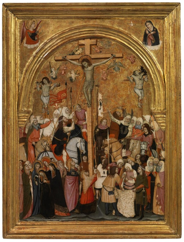 Veronese Painter, Crucifixion and Annunciation, circa 1380-1390