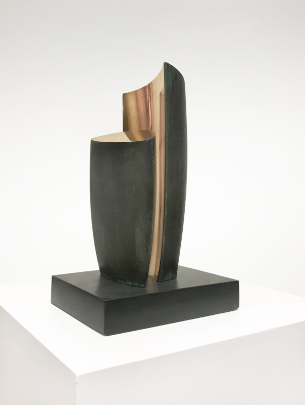 Tommy Rowe born 1941Two Forms, Bosigran signed, titled and dated 2019 on base number 1 from an edition of 7 bronze on slate 24 x 12 cms (9½ x 4¾ ins)