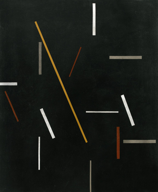 Michael Canney Composition with Gold Line, 1970 signed and dated 1970 verso oil on canvas 91.5 x 76 cms (36 x 30 ins) framed: 99 x 82.5 cms (39 x 32½ ins)