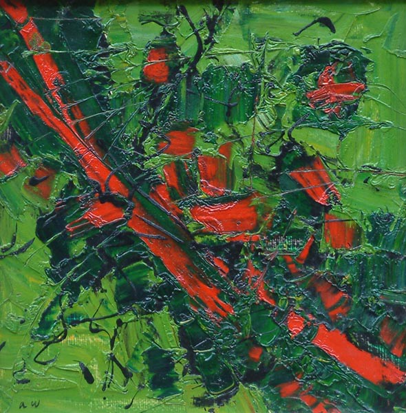 Frank Avray Wilson, Red and Green Abstract