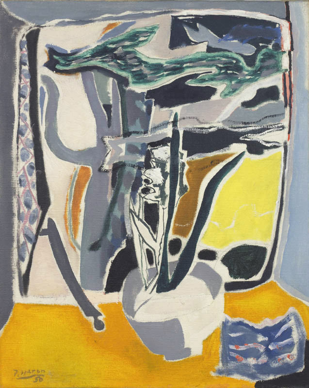 Patrick Heron, Hyacinths and Cedar, Godolphin, 1950