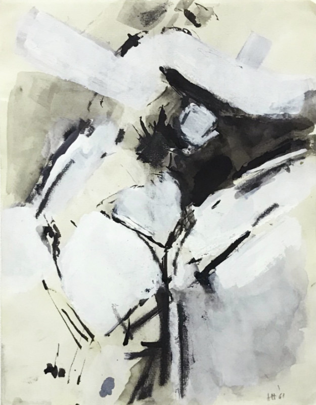 Adrian Heath, Composition Black, White and Grey 2