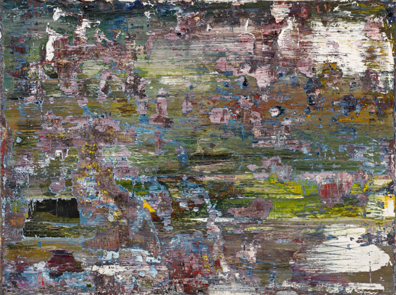 Jonathan S Hooper Cat 17 Erosion No 4 signed, titled and dated 2016/18 verso oil on panel 30 x 40 cms (11¾ x 15¾ ins) framed: 35 x 45 cms (14 x 18 ins)