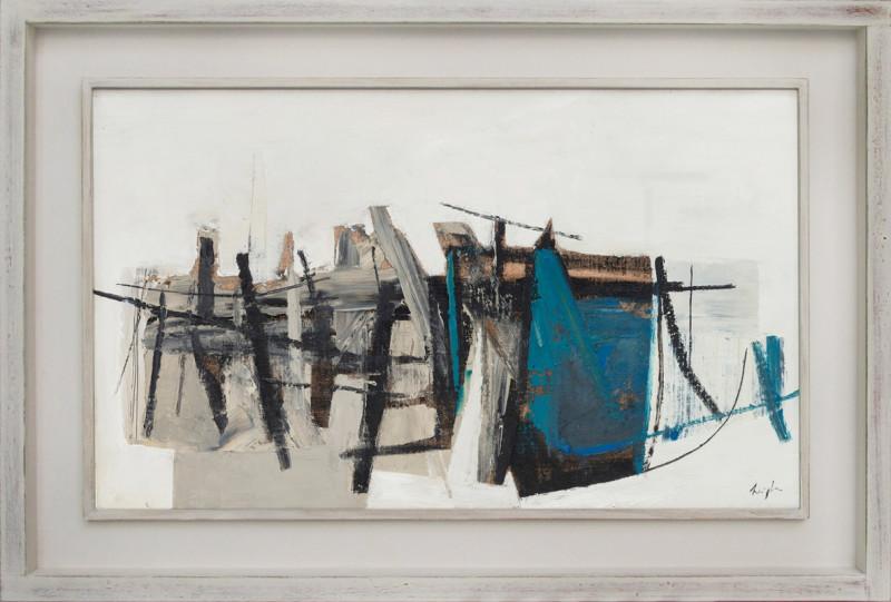 Leigh Davis, Wrecked Barge, Pin Mill, Composition No 2