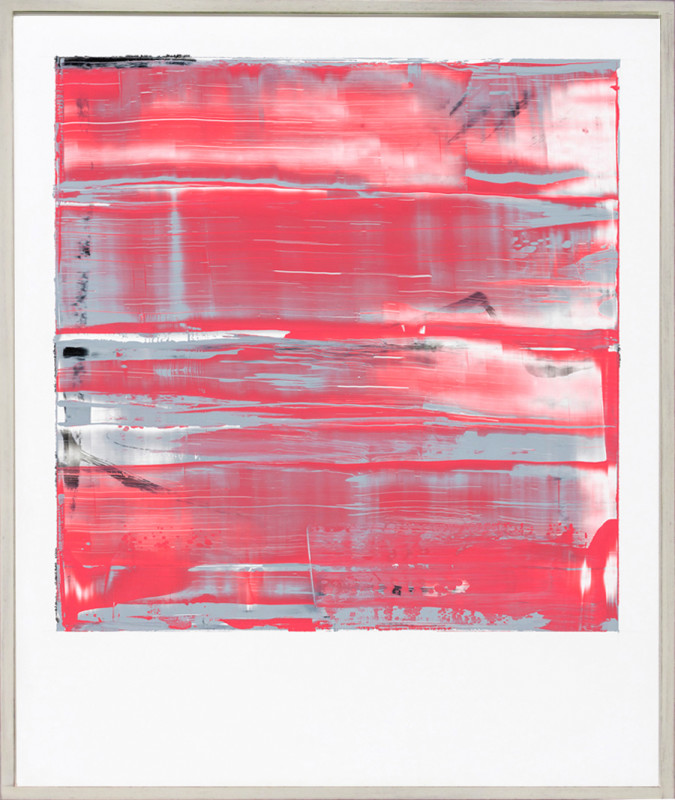 Jonathan S Hooper Born 1962Strata No 4 signed, titled and dated 2017 verso oil and resin on aluminium panel 65 x 54 cms (25½ x 21¼ ins) framed: 67 x 56 cms (26½ x 22 ins)