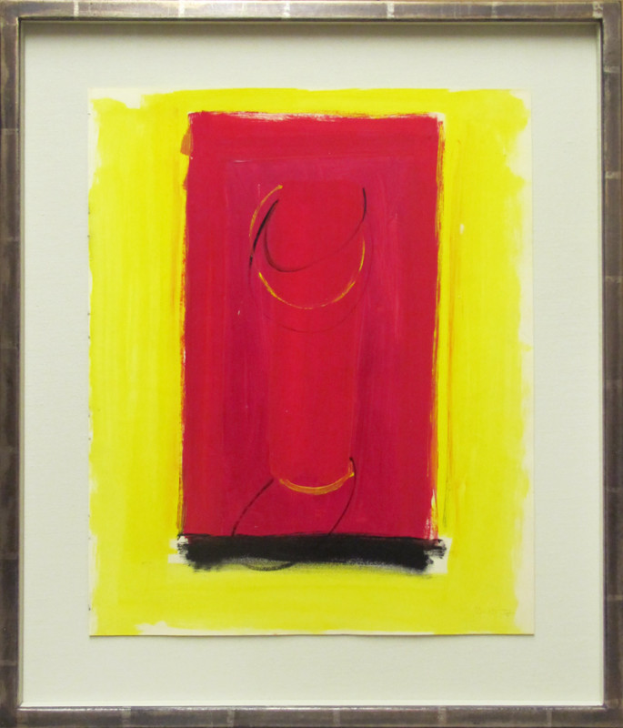 Terry Frost, Untitled Red and Black (from A Book of Ideas)