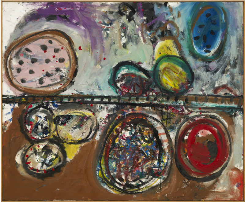Alan Davie Cat 6 Dragons' Eggs Assorted signed, titled and dated Aug 1962 verso opus 0.488 oil on canvas 153 x 183 cms (60 x 72 ins) framed: 155 x 185 cms (61 x 73 ins)