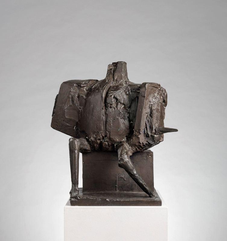 Bernard Meadows 1915-2005Seated Armed Figure, 1962 stamped with artist's initials number 6 from an edition of 6 bronze 44.5 x 40.5 cms (17.5 x 16 ins)