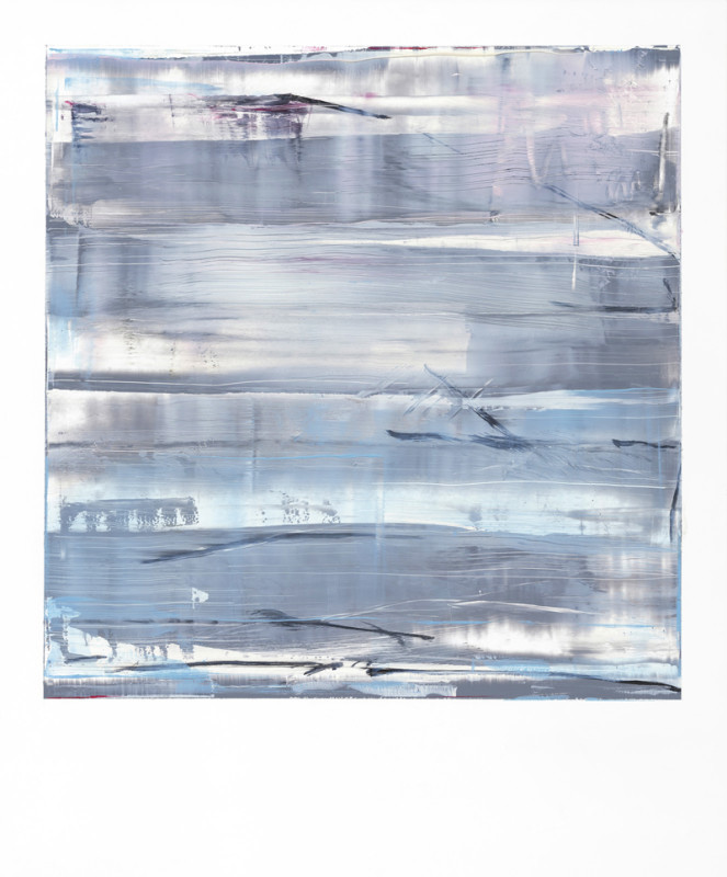 Jonathan S Hooper Cat 20 Strata No 2 signed, titled and dated 2017 verso oil and resin on aluminium panel 65 x 54 cms (25½ x 21¼ ins) framed: 67 x 56 cms (26½ x 22 ins)