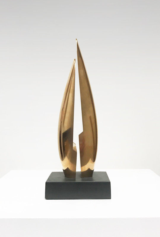 Tommy Rowe Pen Enys II signed, titled and dated 2019 on base number 1 from an edition of 9 bronze on slate height: 23.5 cms (9¼ ins)