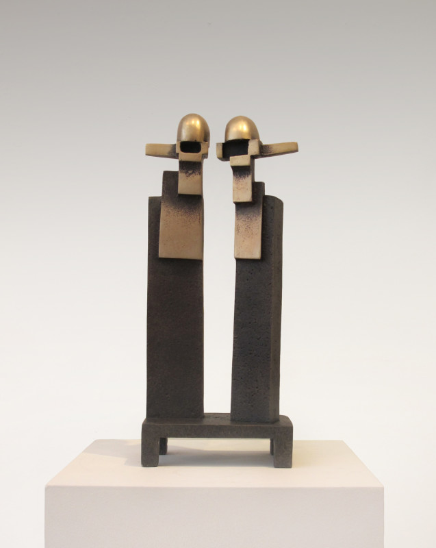 Jonathan Clarke Born 1961WE2 signed with artist's initials number 1 from an edition of 9 cast in 2020 bronze 36.5 x 16 cms (14¼ x 6¼ ins)