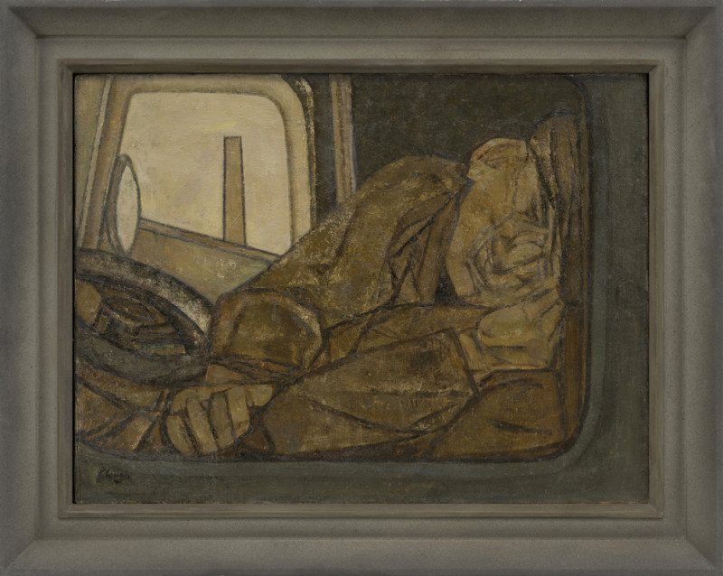 Prunella Clough, Sleeping Lorry Driver 1