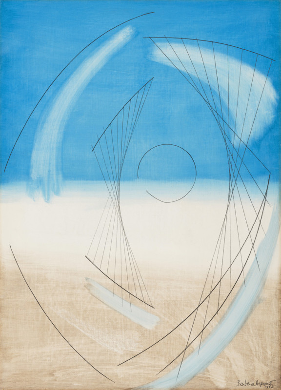 Barbara Hepworth, Atlantic Form (Blue)