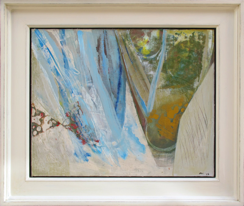 Peter Joyce Born 1964 Bight signed with initials and dated 2018 titled verso acrylic on canvas laid to panel 41 x 51 cms (16¼ x 20 ins) framed: 55 x 65 cms (21½ x 25½)