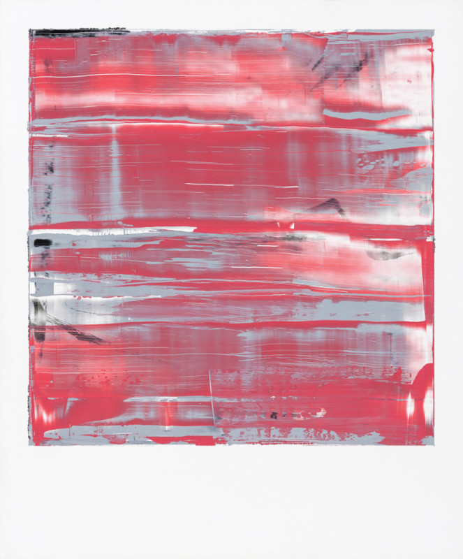 Jonathan S Hooper Cat 21 Strata No 4 signed, titled and dated 2017 verso oil and resin on aluminium panel 65 x 54 cms (25½ x 21¼ ins) framed: 67 x 56 cms (26½ x 22 ins)