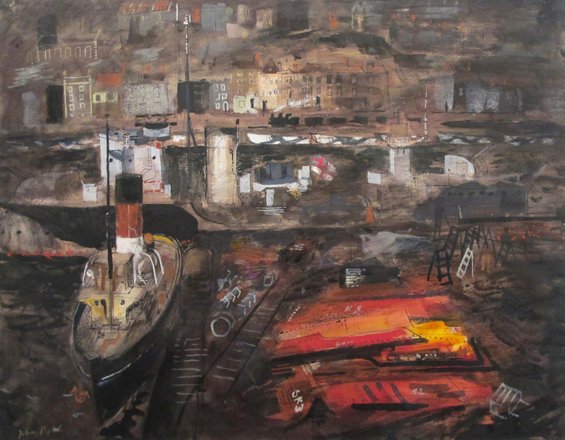 John Piper, Port in Wartime, Cardiff 1944