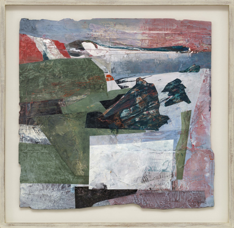 Jeremy Gardiner Cat 18 Winter Gale, Mupe Rocks and Kimmeridge Bay, Dorset signed and dated 2019 titled verso acrylic and jesmonite on poplar panel 65 x 66 cms (25½ x 26 ins) framed: 78 x 79 cms (30½ x 31 ins)