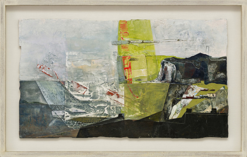 Jeremy Gardiner Cat 3 Shingle Beach, St Margaret's Bay, Kent signed and dated 2019 titled verso acrylic and jesmonite on poplar panel 40 x 70 cms (16 x 27½ ins) framed: 53 x 83 cms (21 x 32½ ins)