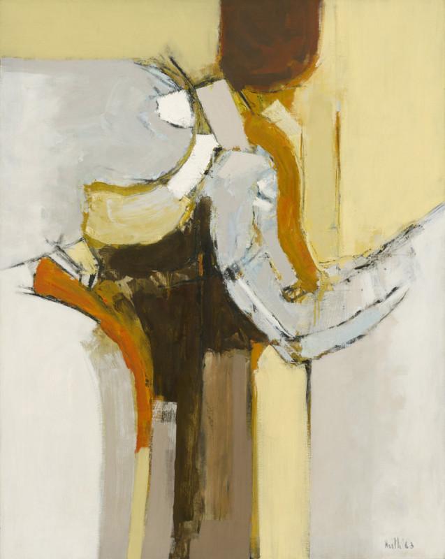 Adrian Heath, Painting Orange and Ochre