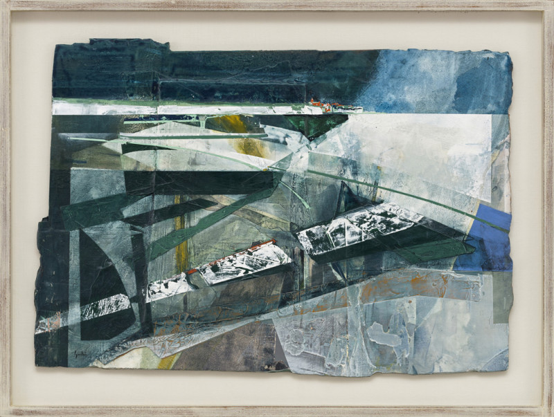Jeremy Gardiner Cat 2 Pegwell Bay, Kent, A Recollection signed and dated 2019 titled verso acrylic and jesmonite on poplar panel 55 x 79 cms (22 x 31 ins) framed: 68 x 92 cms (27 x 36 ins)