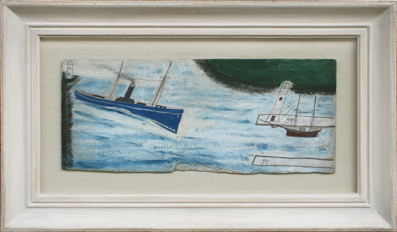 Alfred Wallis, Steamer Coming into Harbour