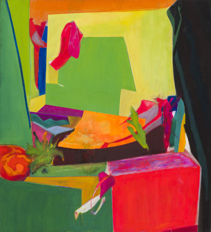 Gary Wragg, Still Life with Black Curtain
