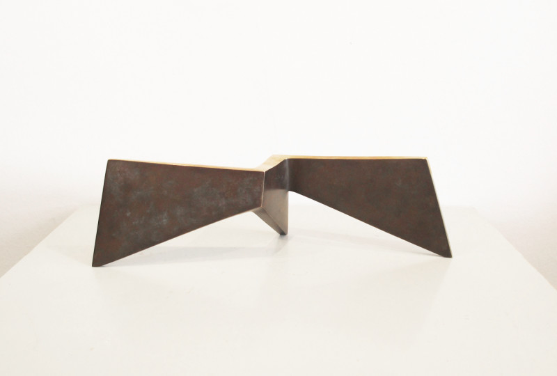 Robert Fogell Born 1963Three Point Series stamped with artist's initials number 1 from an edition of 5 cast in 2018 bronze 9.5 x 30.5 cms (3¾ x 12 ins)