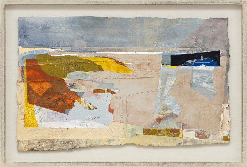 Jeremy Gardiner Cat 29 Godrevy Light, Cornwall signed and dated 2019 titled verso acrylic and jesmonite on poplar panel 50 x 80 cms (20 x 31½ ins) framed: 63 x 93 cms (25 x 36½ ins)