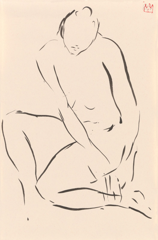 Cathalijn Wouters, Seated Nude - II, 2018
