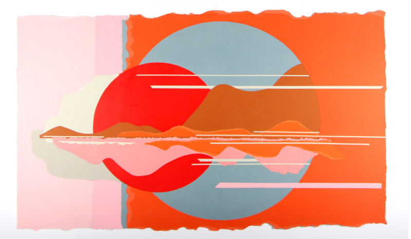 Colette Vermeulen, Red Sun, Pink Cloud, 2017