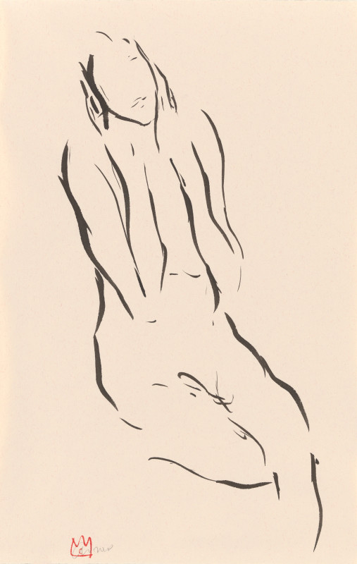 Cathalijn Wouters, Seated Nude - I, 2018