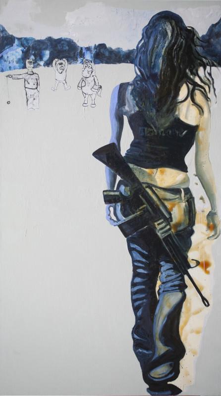 Rob Visje, Woman with gun special