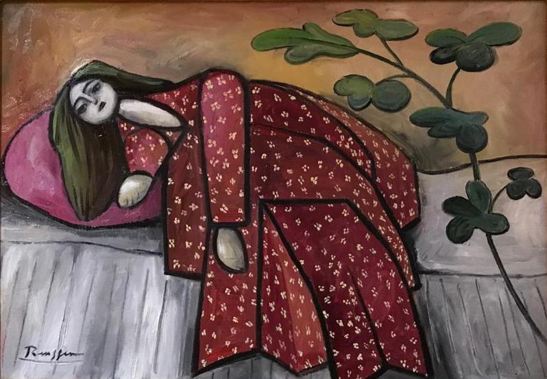 Erik Renssen, Girl in kimono, 2019